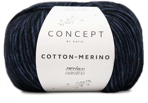 Katia Cotton-Merino 57 Night blue - Black