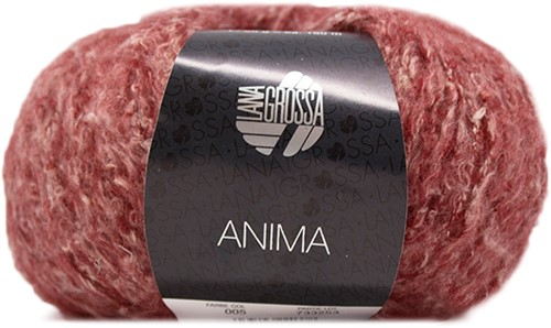 Lana Grossa Anima 05 Dark Red Mottled