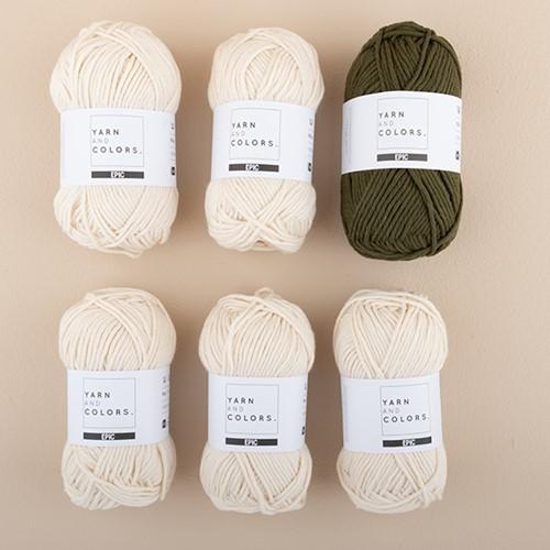 Yarn and Colors Streifenpullover Strickpaket 4 S Khaki