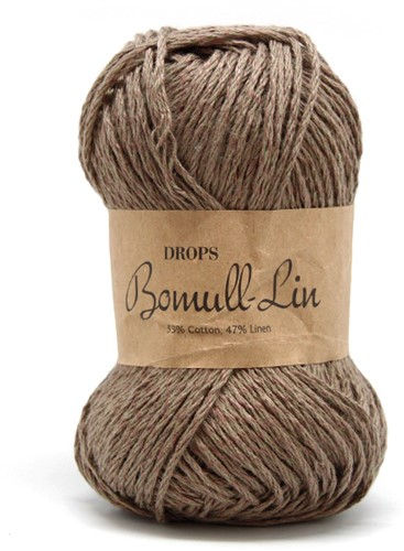 Drops Bomull-Lin Uni Colour 05 Brown