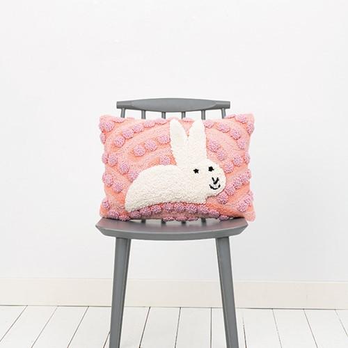 Kaninchen Kissen Rechteckig Punchpaket 1 Pink