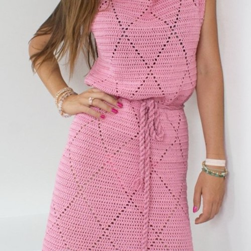 Häkelanleitung Durable Coral Kleid