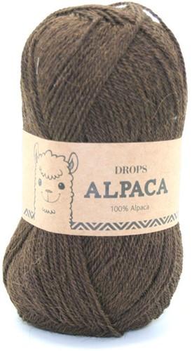 Drops Alpaca Uni Colour 601 Dunkelbraun