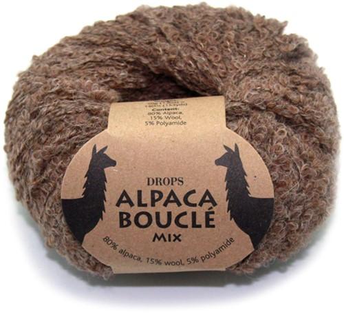 Drops Alpaca Bouclé Mix 602 Braun