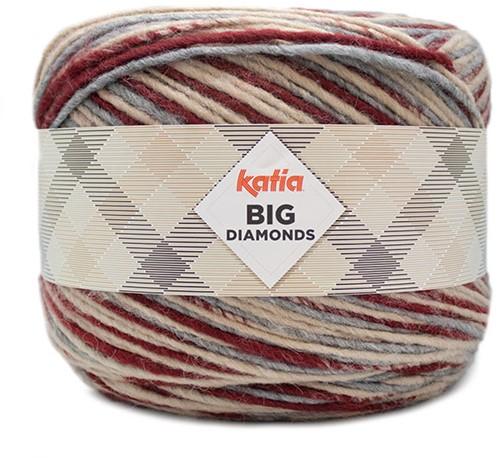 Katia Big Diamonds 603 Grijs/Beige/Wine Red