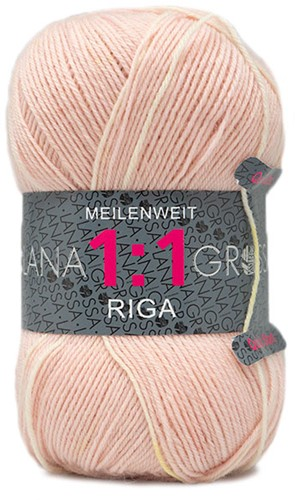 Lana Grossa Meilenweit 100 1:1 Riga 611 Sand/Green/Orange