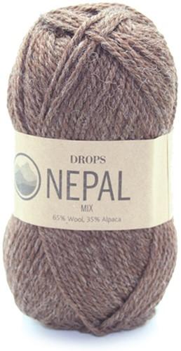 Drops Nepal Mix 612 Mittelbraun