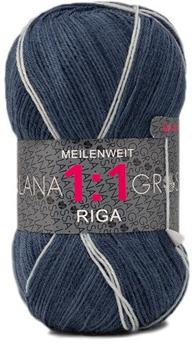 Lana Grossa Meilenweit 100 1:1 Riga 616 Dark Blue/Mint/Purple