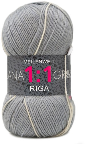 Lana Grossa Meilenweit 100 1:1 Riga 618 Light Gray/Bright Yellow/Light Pink