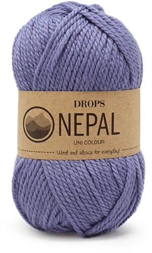 Drops Nepal Uni Colour 6220 Mittelblau