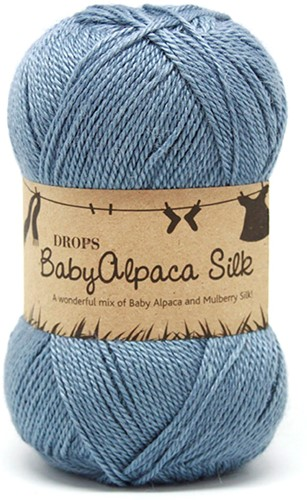 Drops BabyAlpaca Silk Uni Colour 6235 Grey-blue