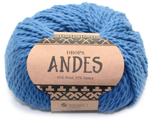 Drops Andes Uni Colour 6295 Jeansblau