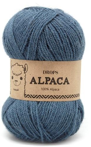 Drops Alpaca Uni Colour 6309 Türkis-grau