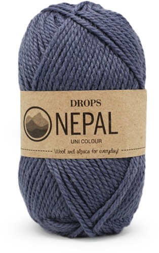 Drops Nepal Uni Colour 6314 Jeansblau