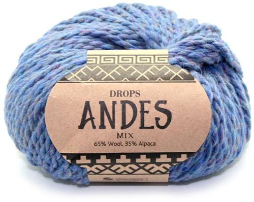 Drops Andes Mix 6343 Blaue-dämmerung