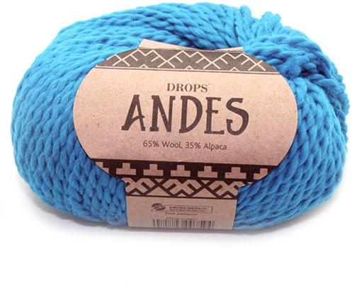 Drops Andes Uni Colour 6420 Türkis