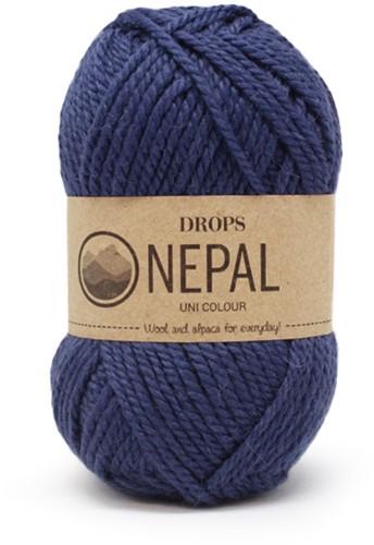 Drops Nepal Uni Colour 6790 Königsblau