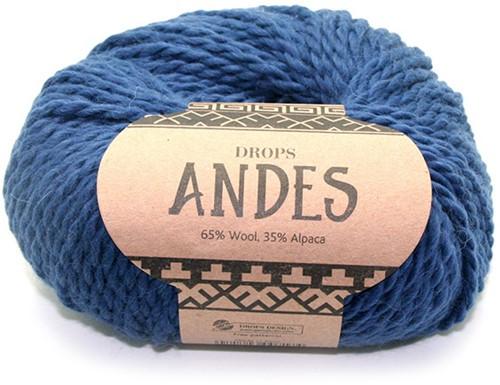 Drops Andes Uni Colour 6928 Königsblau