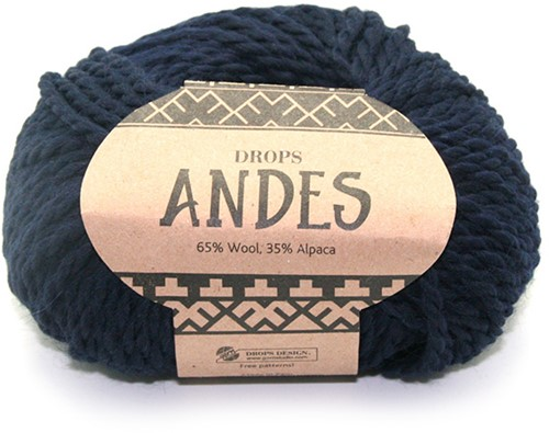 Drops Andes Uni Colour 6990 Marine