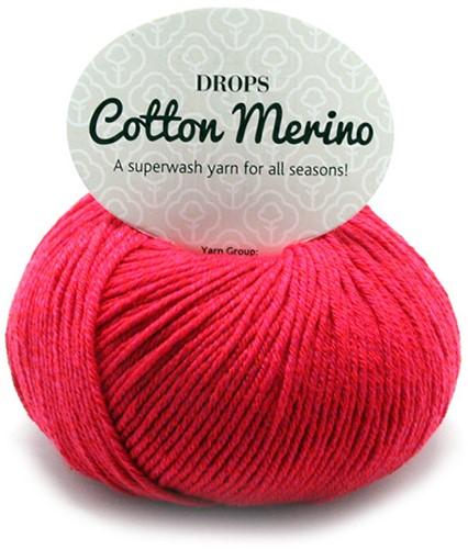 Drops Cotton Merino Uni Colour 6 Rot