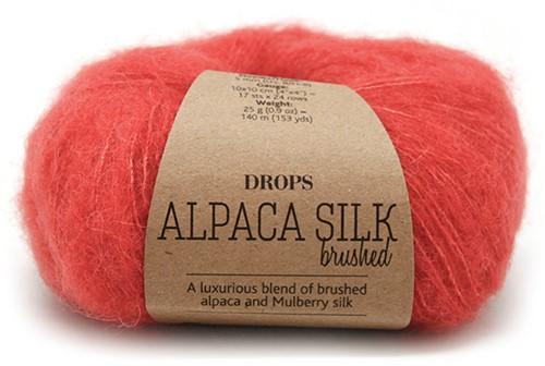 Drops Brushed Alpaca Silk Uni Colour 06 Coral