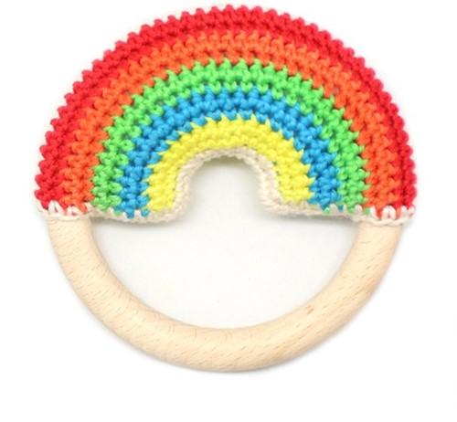 Wollplatz Regenbogen Beißring Häkelpaket 6 Colorful