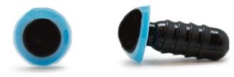 Sicherheitsaugen Blau 6mm 2 Stück