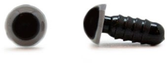 Sicherheitsaugen Grau 6mm 2 Stück