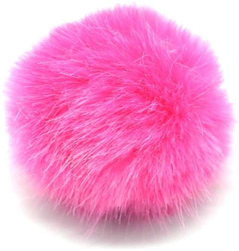 Rico Kunstfell Pompon Medium 7 Pink