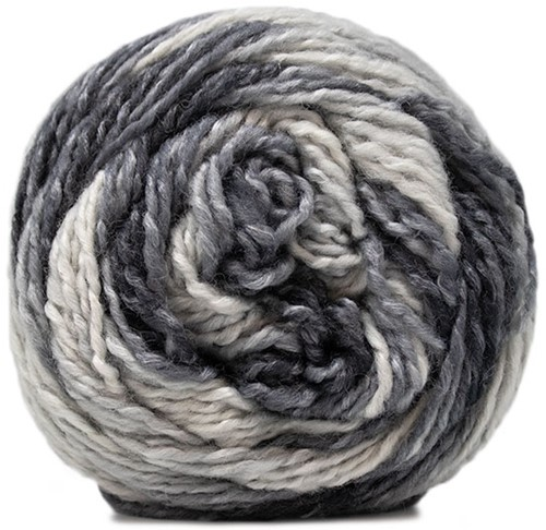 Lana Grossa Gomitolo Conseta 709 Raw White/Silver Gray/Medium Gray/Dark Gray/Anthracite