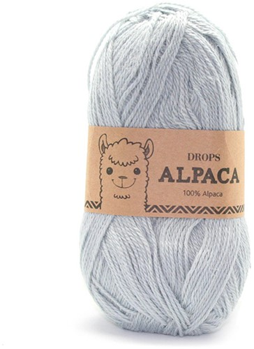 Drops Alpaca Uni Colour 7120 Hell-graugrün
