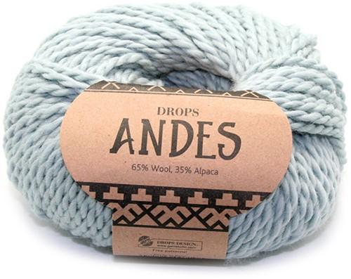 Drops Andes Uni Colour 7120 Hellgrau- Grün