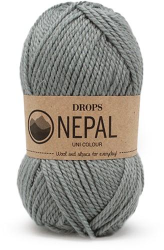 Drops Nepal Uni Colour 7139 Graugrün