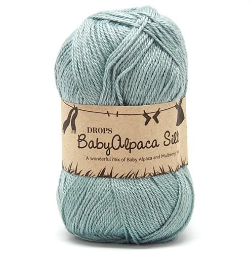 Drops BabyAlpaca Silk Uni Colour 7402 Light-sea-green