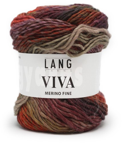 Lang Yarns Viva 75 Brown Orange/Violet