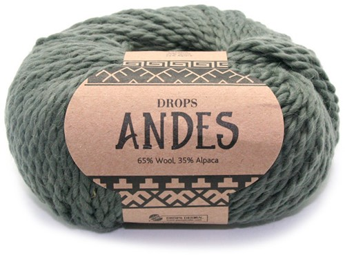 Drops Andes Uni Colour 7810 Moosgrün
