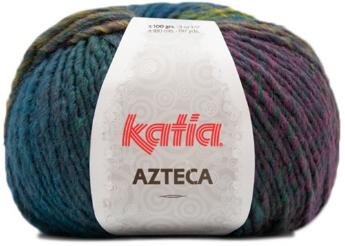 Katia Azteca 864 Blue/Green/Pale Red