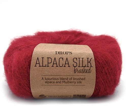 Drops Brushed Alpaca Silk Uni Colour 07 Red