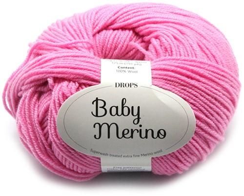 Drops Baby Merino Uni Colour 07 Rosa