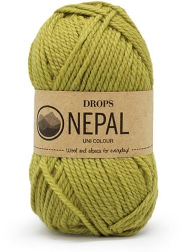 Drops Nepal Uni Colour 8038 Hell-oliv