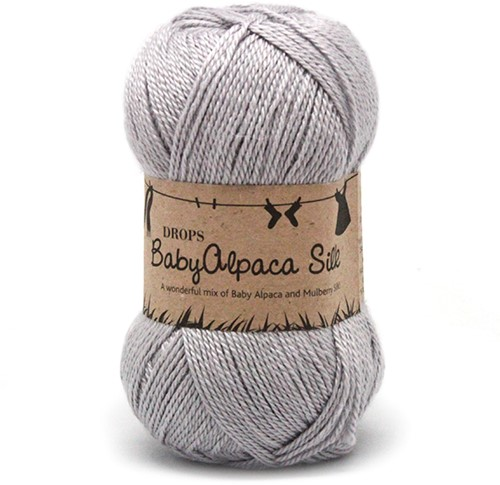 Drops BabyAlpaca Silk Uni Colour 8108 Light-grey
