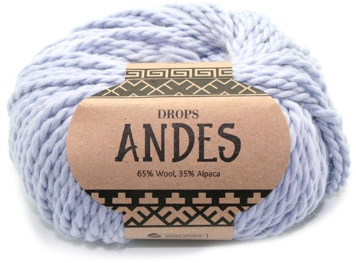 Drops Andes Uni Colour 8112 Eisblau