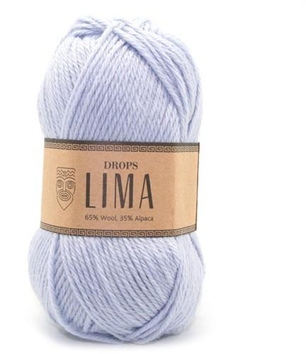 Drops Lima Uni Colour 8112 Eisblau