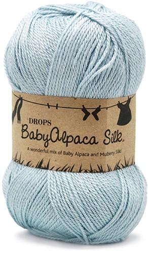 Drops BabyAlpaca Silk Uni Colour 8112 Ice-blue