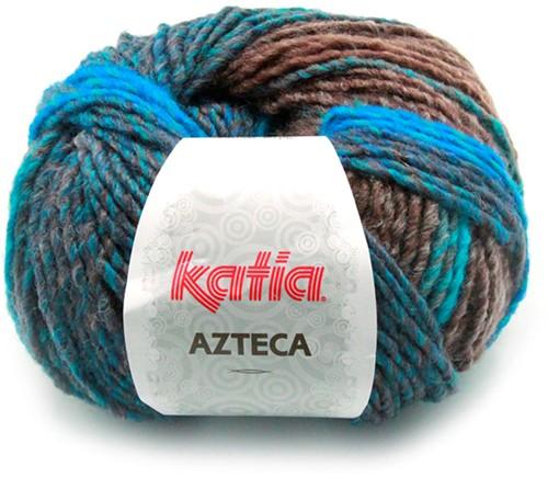 Katia Azteca 845 Brown/Turquoise