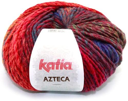 Katia Azteca 847 Wine Red/Dark Fuchsia/Blue