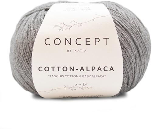 Katia Cotton Alpaca 84 Medium grey