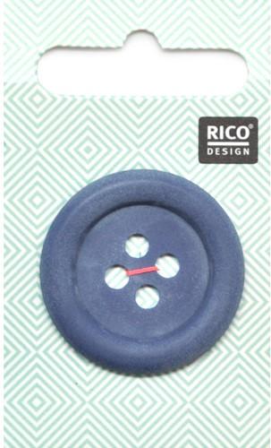Rico Knopf matt-Marine 34mm