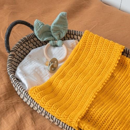 Yarn and Colors Oh Baby! Crochet Blanket Häkelpaket 015 Mustard