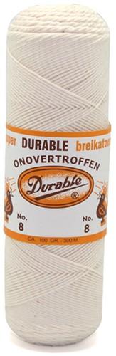 Durable Glanzbaumwolle Nr. 8 87 Ungebleicht